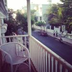 Goretty - the lovely balcony that overlooks a pretty road that leads to the beach