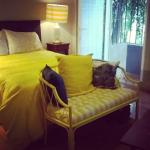 Out sweet little room. Loved the yellow.