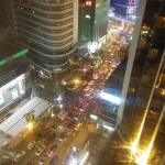 a view down jalan bukit bintang from the room...