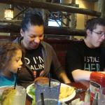 Eating with family at t