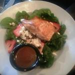 Strawberry Spinach Salad with Salmon