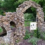 Stone arch in front of B&B