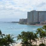 Great view of Waikiki Beach from room!