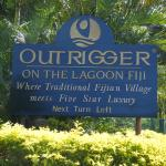 sign introducing you to a quality resort
