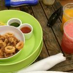 Amazing pool-side Calamari!
