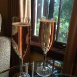 Welcome Glass of Champaign--nothing but the best for their guests