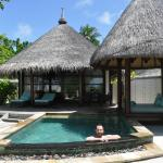 Relaxing in our Private Pool in our Sunrise Beach Villa!