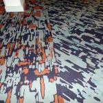 Another example of the wacky decor -- check out the color, pattern and fit of this carpeting.