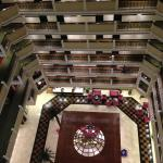 Looking down into the lobby from the 10th floor