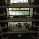Hotel lobby from the 6th floor