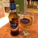 A cool Efes at the end of a long day sightseeing