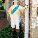 Jockey statues near the front entrance