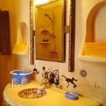 The Riad Khabia's single or double deluxe room's private ensuite bathroom.