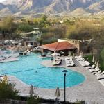 Pool with Catalina Mountains in background