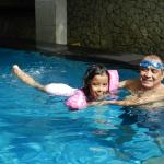 swim with Ompung (grandpa)