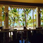 The view from the pool restaurant