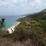 view of resort from Annally Bay hike