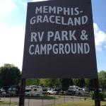 Gate from park to Graceland