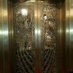 One of the famous brass peacock doors
