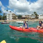 Kayaking right out front off the hotel beach!