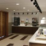 Holiday Inn Express & Suites has a new breakfast area with the same delicious offerings of hot e