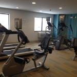 Holiday Inn Express & Suites offers a brand new fitness center with cardio and weight machines;