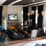 Our room and hotel lobby. Loved the stereo system playing at arrival...nice touch