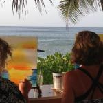 Great paint and sip with Barbara!
