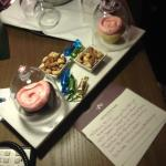 Our cupcakes and wine that were in our room upon arrival