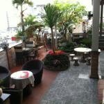 Roof top bar area