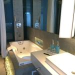 Luxe bathroom -- good water pressure!