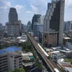 View of Sukhumvit Road and the BTS from my 18th floor room