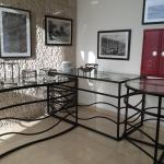 Nice iron wrought table stands