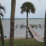 Indian River with fishing pier and boat docks