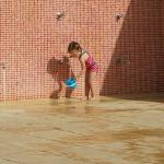 Plenty of joyfull playing at the pool for our toddler :D