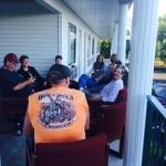 After a long day of riding our motorcycles we dragged chairs from rooms to gather in the breezew