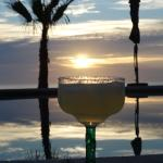 A beautiful sunset to go with my margarita