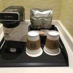 Coffee service in guest room