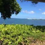 Our breakfast table view, from our private lanai at beautiful Bay House (Harbor room).