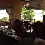 Lunch- brightwater luxury houseboat