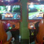 my kids in the arcade