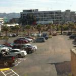 Hilton parking lot - view from the room