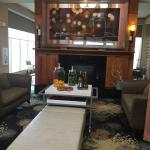 Fire place in lobby