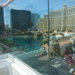 LEFT VIEW OF STRIP WITH U BACK TO THE POOL