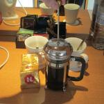 French press in room