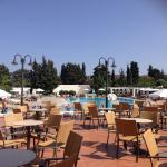 One of the pools, plenty sun beds & pool bar area