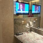 TV inside the bathroom