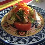 Grilled Goat Cheese Salad at the Spanish Restaurant (beachfront and the best )