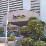 View of Radisson Front Entrance