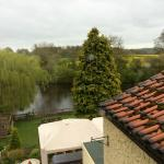 View over garden and river from room 5